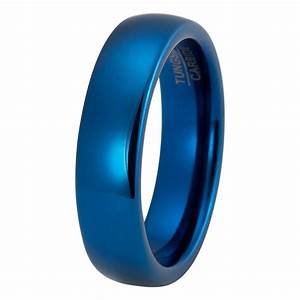 mens blue wedding band tungsten wedding rings With blue wedding ring