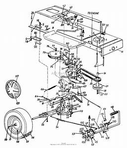 Mtd 136l673f022  1996  Parts Diagram For Drive  Frame