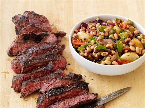 grilled steak  black eyed peas recipe food network