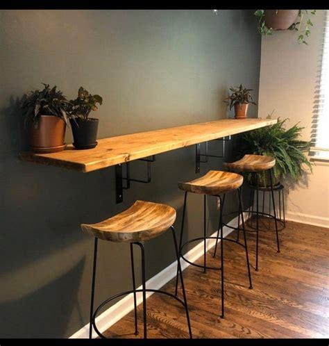 wall mounted tablebar  modern bracket design etsy