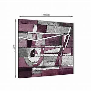 K L Wall Art : plum grey white painting abstract office canvas pictures accessories 1s408l 79cm square print ~ Buech-reservation.com Haus und Dekorationen