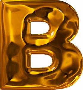 presentation alphabets lumpy gold letter b With gold letter b
