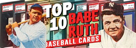 Whether you built your sports cards collection yourself, inherited it from a relative, or even stumbled upon a box of old baseball cards in an attic, selling vintage sports cards should not be taken the best place to start when determining the value of your cards is to identify what year they were printed. Top 10 Babe Ruth Baseball Card List - Highest Selling PSA Graded Value