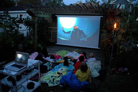 bring  movies   backyard space living outdoors