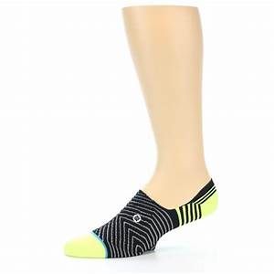 Black White Neon Stripe Men's Liner Socks STANCE