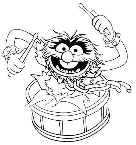 muppet show drumming muppet show coloring pages animal