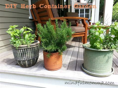 How To Make An Easy Herb Container Garden At Home