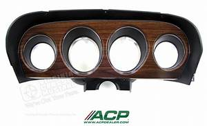 69 Mustang Deluxe Instrument Bezel With Woodgrain Panel
