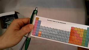 Periodic Table Pen Reference Guide