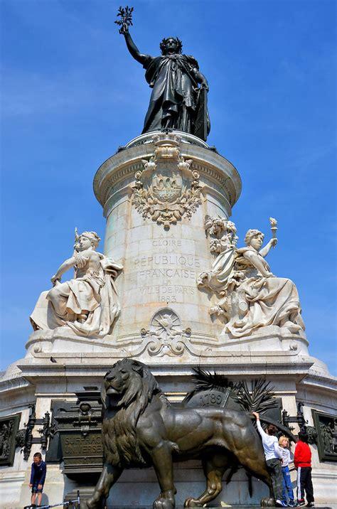 Marianne Statue at Place de la République in Paris, France ...