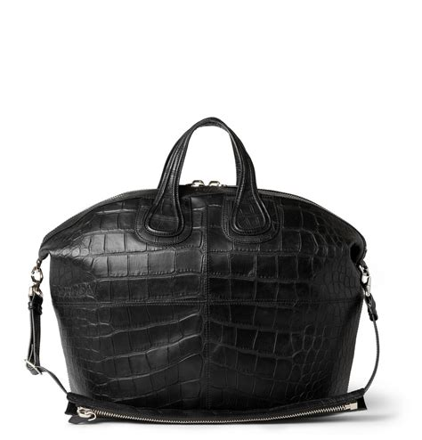 givenchy crocodile embossed leather nightingale tote bag