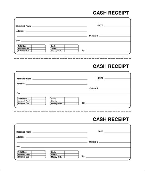 blank receipt template receipt template doc for word documents in different types you can use