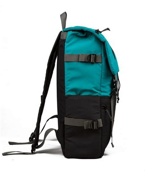 jual tas ransel distro tas sekolah tas travel backpack kitamba hitam tosca artch di lapak