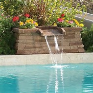 swimming pool waterfall fountain