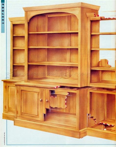 Bookcase Plans by Classic Breakfront Bookcase Plans Woodarchivist