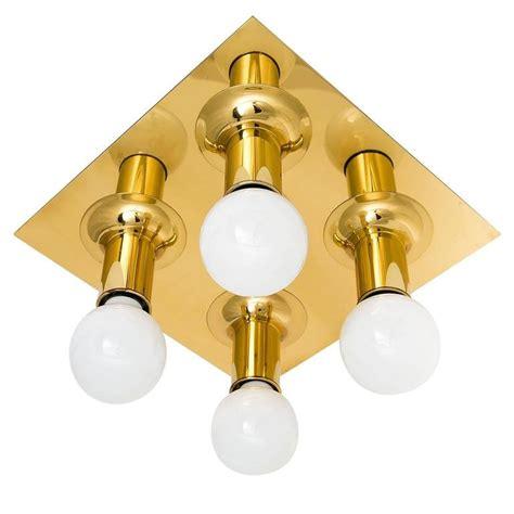 five flush mount or wall light fixtures sputnik brass by