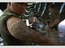 Collection of 25+ Military Tightens Rules Tattoo On Back