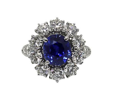 carat  heat kashmir sapphire diamond platinum ring worlds