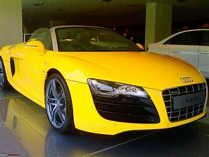 audi r8 spyder yellow 2017 - ototrends.net