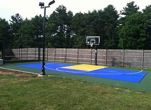 boston backyard basketball court landscape traditional With outdoor basketball court with lights near me