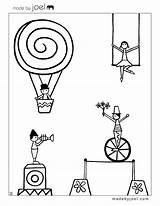 Circus Coloring Printable Sheets Pages Joel Theme Colouring Printables Para Carnival Cirque Preschool Sheet Coloriage Worksheets Colorear Colorier Imprimir Circo sketch template