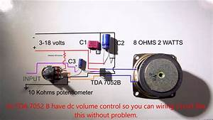 1 2 W Amplifier Tda7052 Wiring Diagram