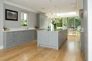 White Kitchen Cabinets with Light Grey