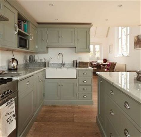 gray kitchen cabinets   Benjamin Moore Greyhound 1579