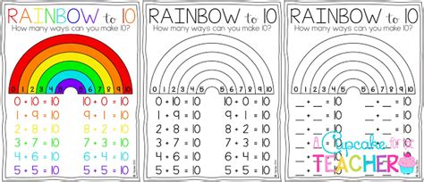 Freebielicious Making Tens With A Rainbow To 10