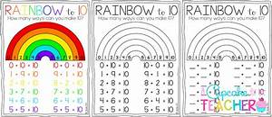 Freebielicious: Making TENS with a Rainbow to 10!