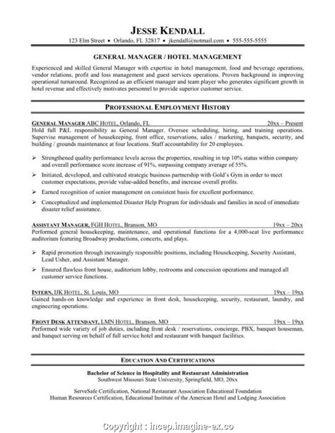 Front Desk Hotel Resume by Simple Front Office Manager Hotel Resume Hotel Front Desk