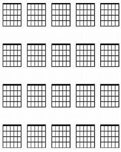 Large Guitar Chord Diagram Sheet