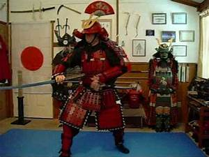98-CLOSE-UP FOOTAGE OF THE NEW RED SAMURAI ARMOR AND ...