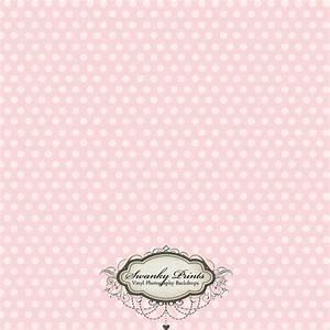 4ft x 4ft Vinyl Photography Backdrop Pale Light Pink Polka