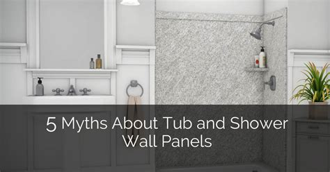 bathroom remodel ideas small 5 myths about tub and shower wall panels home remodeling