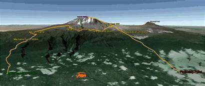 Route Machame Kilimanjaro Climb Climbing Map Days