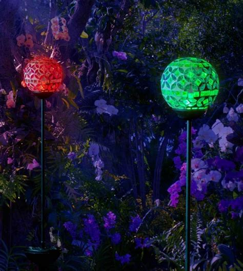 solar mosaic crackle stake light globes fresh