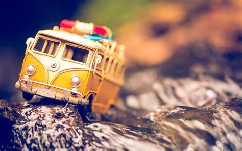 yellow  volkswagen bus toy hd wallpaper zoomwalls vw volkswagen bus bus