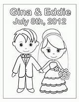 Coloring Bride Groom Pages Popular Printable sketch template