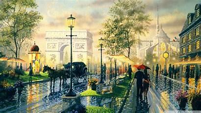 Paris Painting Streets 1920 Famous