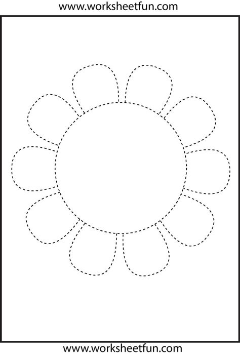 crafts actvities and worksheets for preschool toddler and 834 | flower trace