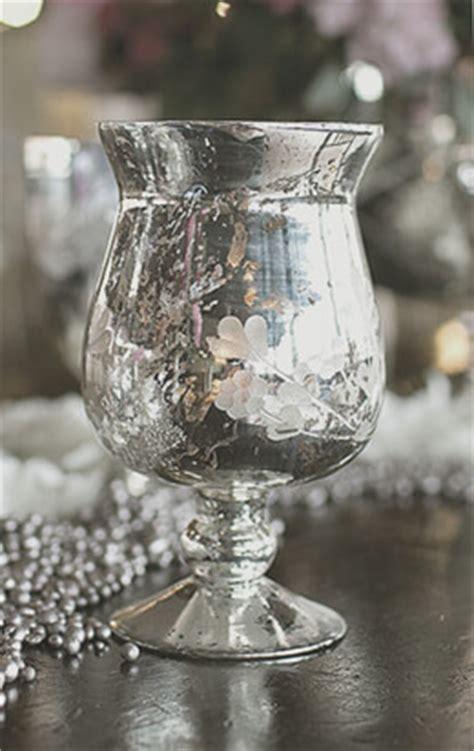 mercury glass vase fluted