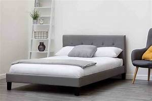 Blenheim Grey Charcoal Fabric Upholstered Bed Frame Single