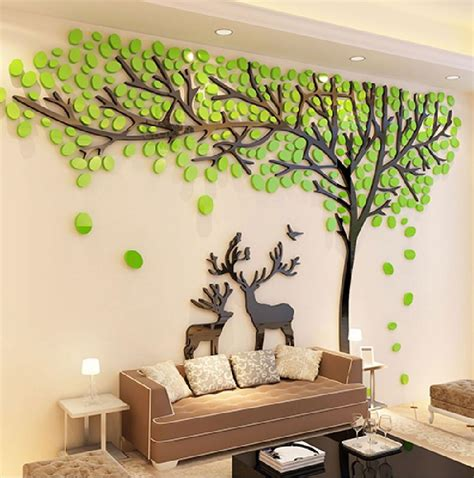 Babyzimmer Wandgestaltung Baum by 2017 Elk Trees 3d Stereo Wall Stickers Living Room Sofa Tv