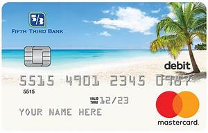 Gold debit card fifth third bank for Fifth third bank card designs