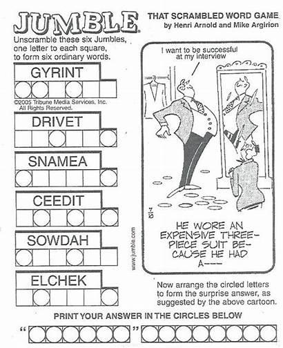 Puzzles Printable Adults Jumble Word Jumbo Games