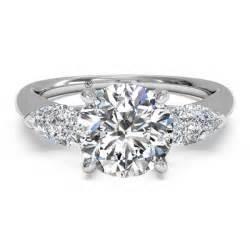 3 wedding rings ritani and pear cut three semi mount engagement ring king jewelers
