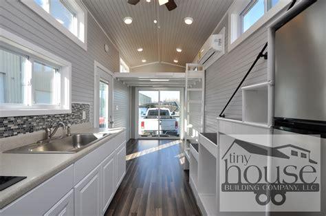 bayview tiny house tiny home  wheels  sliding glass