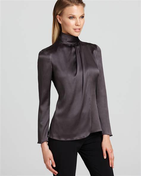 turtleneck blouse armani collezioni blouse turtleneck bloomingdale 39 s