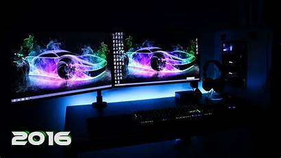Setup Gaming Dual Wallpapers Screen Monitor Backgrounds